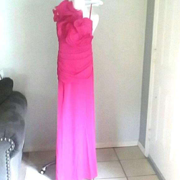 Cinderella Dresses & Skirts - Cinderella formal hot pink one shoulder dress